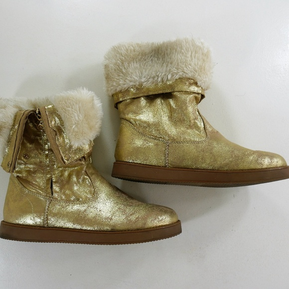 G By Guess Womens Gold Textile Winter